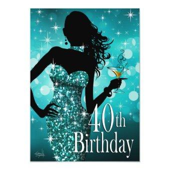 Bring the Bling Sparkle 40th Birthday | teal