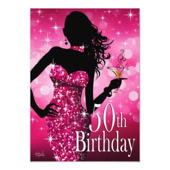 Bring the Bling Sparkle 50th Birthday | fuchsia