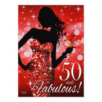 Bring the Bling Sparkle 50th Birthday | red