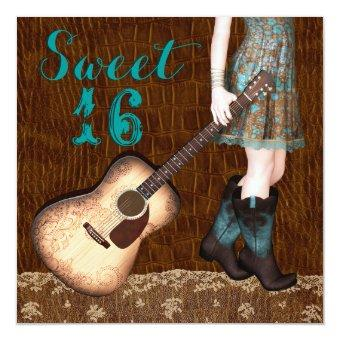 Brown and Teal Blue Cowgirl Sweet Sixteen Party
