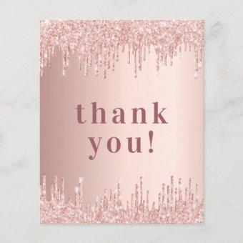 BUDGET Birthday 50 rose gold glitter thank you