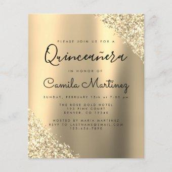 Budget Gold Glitter Party