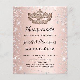 Budget Masquerade rose gold silver
