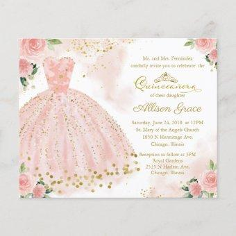 Budget  Bilingual Pink Gown