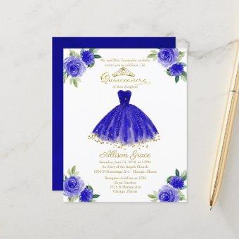 Budget  Gold Royal Blue Gown