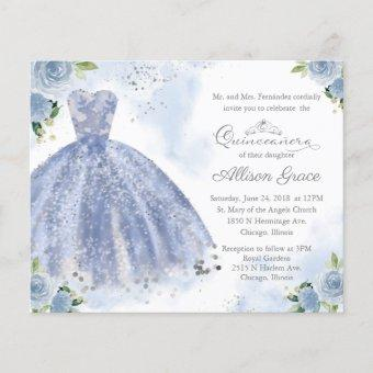Budget  Silver Blue Gown