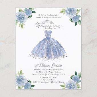 Budget  Spanish Blue Gown