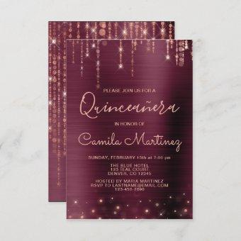 Burgundy and Rose Gold Party