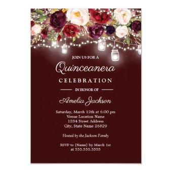 Burgundy Floral Lights 15th