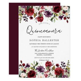 Burgundy Red Botanical Party
