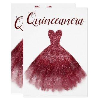 Burgundy Red Glitter Dress Party 15th