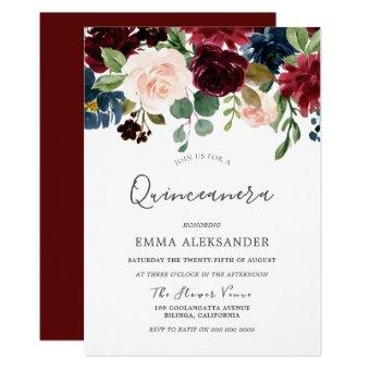 Burgundy Red Wine Beautiful Invite