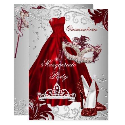 Burgundy Silver Dress masquerade mask