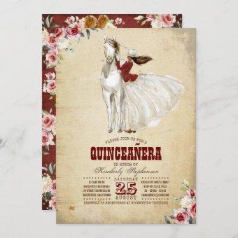 Burgundy Western Quinceañera - 15th Birthday