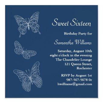 Butterfly Birthday (blue)