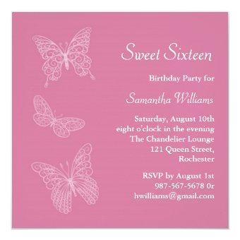 Butterfly Birthday (pink)