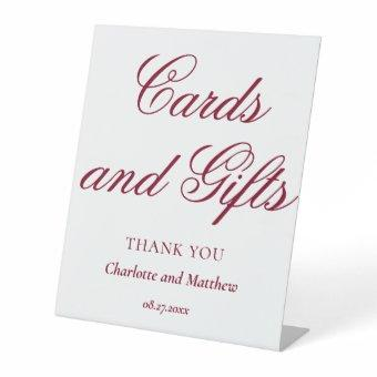 And Gifts Chic Modern Wedding Event Pedestal Sign