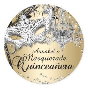 Chandelier Masquerade Gold Sticker