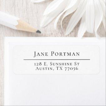 Chic Elegance | Modern Minimalist | Return Address Label