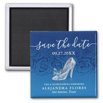 Cinderella Slipper Blue Save the Date Magnet