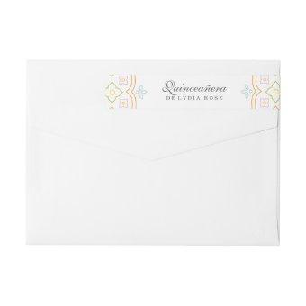 Colorful Quince Wrap Around Label