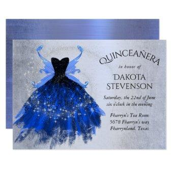 Cool Iridescent Blue Fairy Wing Gown