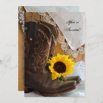 Country Sunflower Lace Western Party
