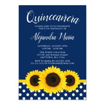 Country Sunflower Navy Blue
