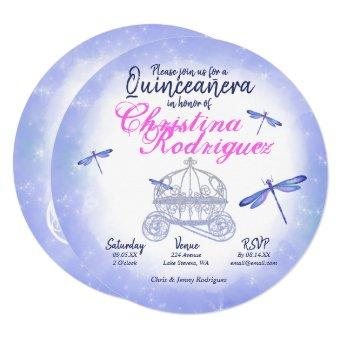 Crystal Blue Dragonflies Quinceañera