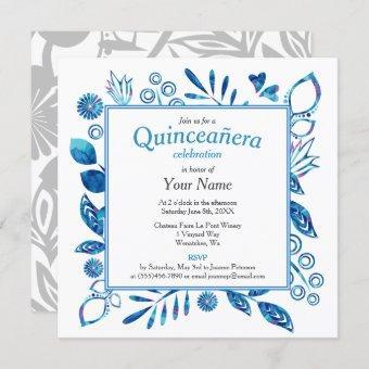 Crystal Blue Quinceañera Square