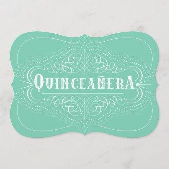 Custom Color Quinceañera South Western Mint Green