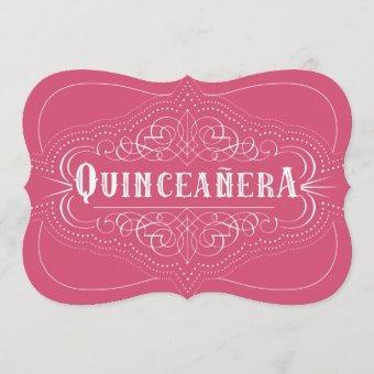 Custom Color Quinceañera South Western Pink
