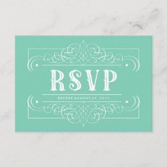 Custom Color South Western RSVP Card - Mint Green
