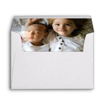 Custom Photo Elegant Personalized Envelope