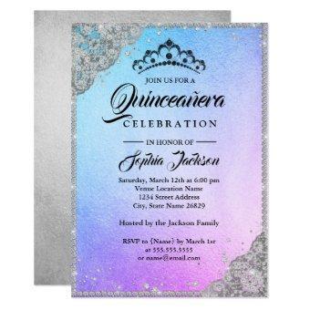 Diamond Lace Sparkle Blue Purple