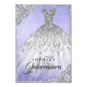 Diamond Lace Sparkle Gown Purple