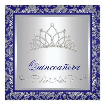 Diamond Tiara Royal Navy Blue