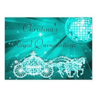 Disco Ball, Princess Coach & Horses Quinceañera