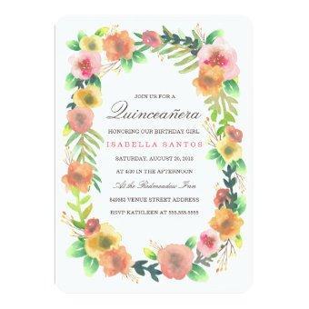 Dreamy Floral Quinceañera