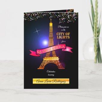Eiffel Tower Paris City of Lights Quinceañera