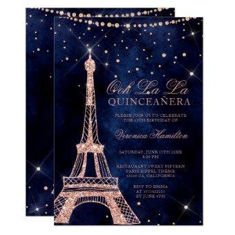 Eiffel tower rose gold glitter sparkle