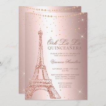 Eiffel tower rose gold metallic foil