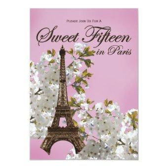 Eiffel Tower Sweet 15 Fifteen Lilac