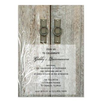 Elegant Barn Doors Quinceañera Party