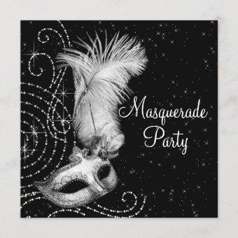 Elegant Black and White Masquerade Party
