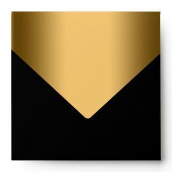 Elegant Black Gold Envelope