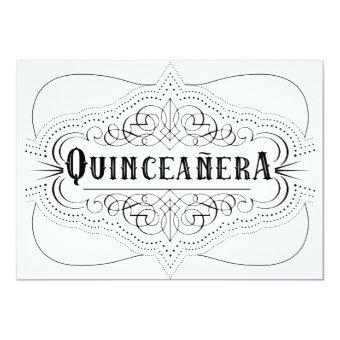 Elegant Black Quinceañera South Western