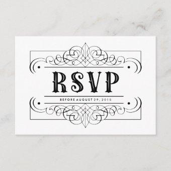 Elegant Black Quinceañera South Western RSVP Card