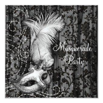 Elegant Black White Masquerade Party