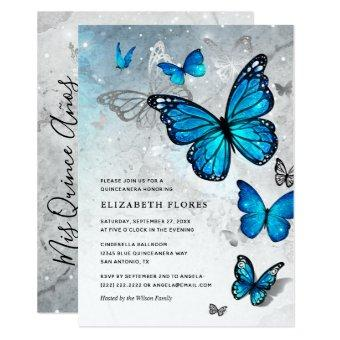 Elegant Blue Butterfly Cinderella